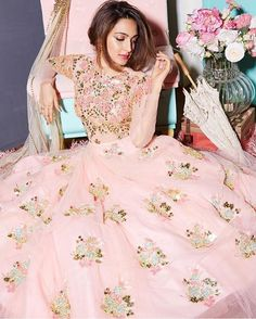 Now that's what we call a modern Cinderella moment ! Outfit by @papadontpreachbyshubhika | See more from them on WedMeGood.com |  #WedMeGood #indianbride #lehenga #pink #wedding #indianwedding #engagementoutfit #engagement #engagementday #pinkgown #fairytale #instapic #instagood #weddinglove #instadaily #fashion #ootd