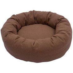 Iconic Pet Luxury Nestlez Round Pet Bed, Light Brown, Medium