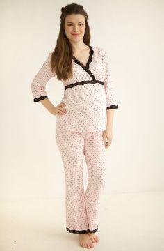 43bf11b734d90 Belabumbum Queen of Hearts Maternity Nursing Pajamas, Lounge Pants, Lounge  Wear, Hospital Bag
