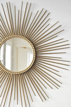 Great Sunburst Mirror, addictable mirror, interior design, decor ideas, mirror for liv. - Best Decoration ideas for the home Diy On A Budget, Decorating On A Budget, Casa Retro, Budget Bedroom, Bedroom Decor, Living Room Mirrors, Sunburst Mirror, Gifts For Office, Metal Wall Decor