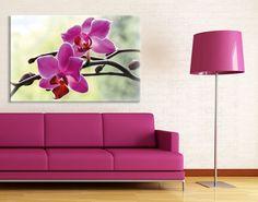 Kennt Ihr schon die Trendfarbe des Jahres 2014?  Sie ist magisch, ausdrucksstark, exotisch und vor allem strahlend und kreativ: Radiant Orchid!  #Leinwandbild #Orchideen #Dekoidee