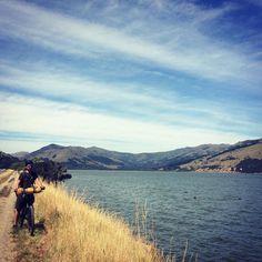 Day 184 - Motukarara > Little River > Motukarara. 52 km. Riding the Little River Rail Trail. All we can think is waaaaaaaaaaaw