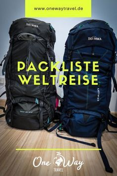 Das haben wir in unseren Rucksäcken für unsere 1 jährige Weltreise. Sieh dir … This is what we have in our backpacks for our 1 year trip around the world. Check out our packing list here! We travel through Asia, Australia and South America. Work Travel, Travel List, Travel Packing, Travel Bag, Travel Hacks, Packing Hacks, Travel Trip, Roadtrip, Travel Guides