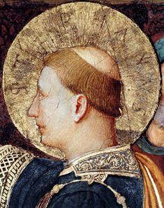 """Beato Angelico, Santo Stefano, dettaglio da: Affreschi della """"Cappella Niccolina"""" in Vaticano (1447-48 ca.)"""