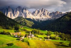 Photography Landscape  Dolomites Forest House Countryside Earth Field Grass Nature Valley Village Alps Italy Mountain Wallpaper