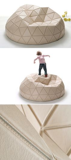 Buckey's Nightmare by Mathieu Lehanneur - modern twist to the beanbag in both form and material