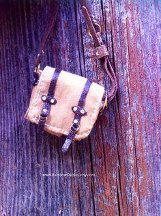 Brown messenger bag for Blythe Momoko Azone Barbie Ken