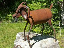 Get My Goat Welding Ideas, Welding Art, Welding Projects, Recycled Metal Art, Scrap Metal Art, Rock Path, Recycle Art, Metal Yard Art, Metal Art Sculpture