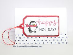 Lawn Fawn Winter Penguin, Teeny Tiny Backdrops, Tag, You're It; Peppermint Single Cord