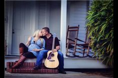 Maternity photography Maternity pictures Pregnancy Guitar Country Leia drew photography