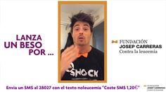 Del 1 al 15 de octubre de 2014, #LanzaUnBesoPor la Fundación Josep Carreras. Si quieres colaborar, sólo has de mandar un SMS con el texto 'NoLeucemia' al número 28027 (coste 1,20€), y donarás el coste íntegro del mismo a la Fundación. Además, si nos enseñas el SMS de vuelta podrás disfrutar en nuestras heladerías de un Alberto Moka Blanco por sólo 1 €. Aaron Cobos nos envía su mensaje www.valencianashock.com
