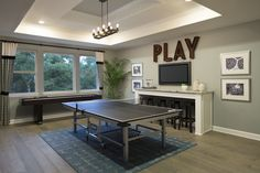 The Park at Steven's Ranch San Antonio Media Room Decor, Story Planning, Texas Homes, Ping Pong Table, Game Room, San Antonio, Beautiful Homes, Ranch, Park