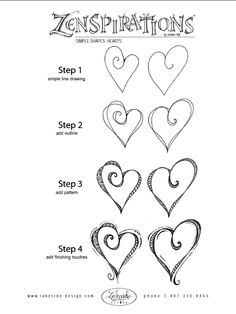 from http://www.sakuraofamerica.com/zenspirations hearts