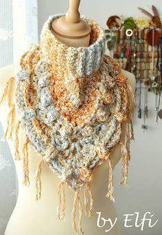 Elfi / Háčkovaný nákrčník/šatka Elf, Outfit, Crochet, Fashion, Outfits, Moda, Fashion Styles, Knit Crochet, Crocheting