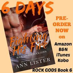 6 MORE DAYS!! #Countdown #‎DanteandAshton‬ ‪#‎FightingHisFire‬ #MoreRockGods #No1GayEroticaOnAmazon Can Ashton Resist Dante's Inferno? You can PRE-ORDER your copy of Fighting His Fire here on::  Amazon: http://www.amazon.com/Fighting-Fire-Rock-Gods-Book-ebook/dp/B013V6404G/ref=sr_1_1?ie=UTF8&qid=1439483259&sr=8-1&keywords=fighting+his+fire+ann+lister  B&N: http://www.barnesandnoble.com/w/books/1122525460;jsessionid=D90645129A990E5EECE7AD81355D421A.prodny_store01