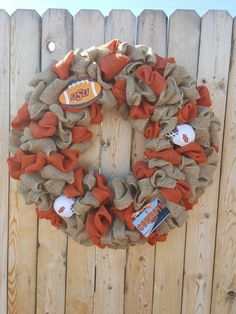 Check out this item in my Etsy shop https://www.etsy.com/listing/509227743/osu-burlap-wreath