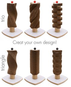 Scratch Tower Modern Cardboard Cat Scratcher by hauspanther