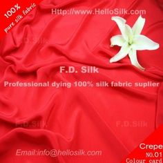 http://www.silkfabricwholesale.com/12mm-silk-crepe-de-chine-fabric-red.html    F.D. silk most professional 12mm silk crepe de chine fabric-red supplier.
