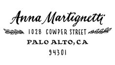 Ladyfingers Letterpress - Olive Address Return Address Rubber Stamp