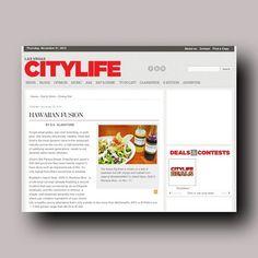 "Las Vegas CityLife - Braddah's in the news, November 20, 2013.  ""Hawaiian Fusion"""
