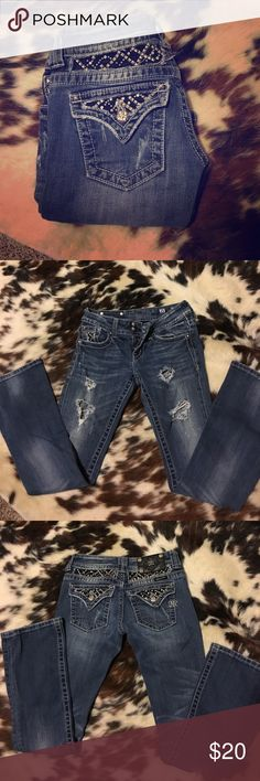 Miss Me Jeans! Bought them on here but they don't fit ): They are in wonderful condition! Ripped in the front, very cute! Miss Me Jeans Boot Cut