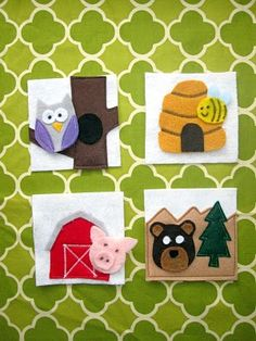 Felt Animal and their homes! They are all so cute and fun.