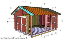This step by step diy woodworking project is about a gable shed roof plans. This is PART 2 of the large storage shed project, where I show you how to build the gable roof. This roof has a pitch, but you can adjust it super easily. Wood Shed Plans, Diy Shed Plans, Storage Shed Plans, Garage Plans, Building A Shed Roof, Building Ideas, Shed Frame, Roof Trim, Yard Sheds