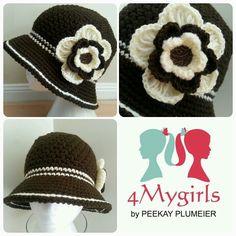 Crochet flapper hat