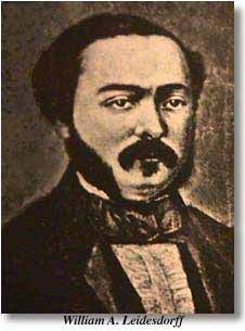 With the name of William Alexander Leidesdorff, begins  the documented history of pioneers of Negro origin in California. Born in the Virgin Islands [then the Danish West Indies], the gifted son of William Leidesdorff, a Danish sugar planter, and Anna Marie Spark, a native woman having Negro blood, Leidesdorff found his way to California in 1841. Later founded the town of Rancho Cordova, outside Sacramento, with the main highway bearing his name today.