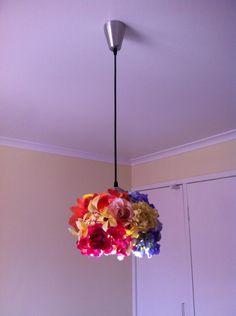 floral blooms pendant light Dim Lighting, Bloom, Ceiling Lights, Pendant, Floral, Flowers, Diy, Home Decor, Decoration Home