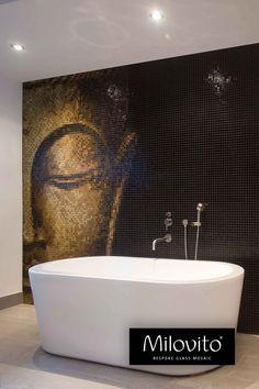 Corner Sink Bathroom, Future House, Luxury Homes, Mosaic, Bathtub, Interior Design, House Styles, Beautiful, Olie