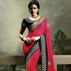 #Rose #GeorgetteSaree with Blouse