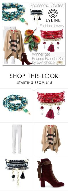 """""""SPONSORED CONTEST - Win Beaded Bracelet Set from www.lylinebrand.com"""" by jecakns ❤ liked on Polyvore featuring rag & bone, Burberry, Chloé, jewelry, lylinebrand and shinewithlyline"""