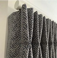 Gliderpole in a custom Barley finish with Stud finials. looking dreamy with these wonderful pinch pleats by & scheme design Wide Curtains, Pinch Pleat Curtains, Pleated Curtains, Modern Curtains, Custom Curtains, Curtains Living, Bay Window Curtain Poles, Metal Curtain Pole, Curtain Rods