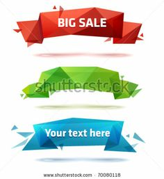 Set of trendy vector crystal banners by More Trendy Design here, via ShutterStock