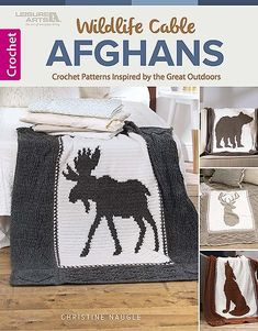 Design your own Wildlife Crochet Blanket. Unique Afghan patterns designed with rich texture and fun stitch combinations.