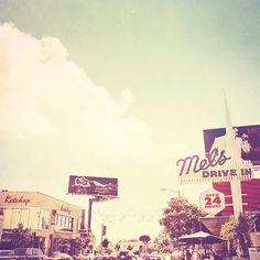West Hollywood photography, Mels Drive in restaurant. ♥ As seen in VHCLE magazine, Issue 12 ♥ TITLE: Ketchup West Hollywood, California Art Mural, Wall Art, Wall Collage, East Coast Beaches, Pacific Coast, West Coast, Sunset Strip, California Dreamin', California Honeymoon