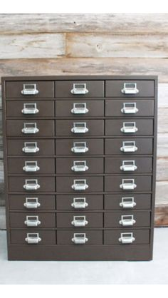 1920's INDUSTRIAL 30 DRAWER ADDRESSOGRAPH METAL FILE CABINET ...