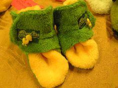 Oregon Duck Sports Fan baby booties by simplyfunbyrebecca on Etsy