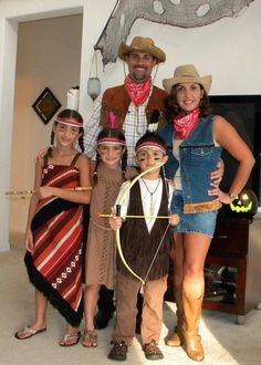 Cowboys and Indians Family Costumes  sc 1 st  Pinterest & Halloween http://www.planetgoldilocks.com/halloween/sales.html Wild ...