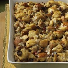 Chestnut Stuffing..I have never made this but it sure looks festive, no?