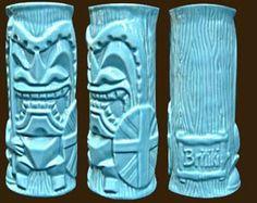 CheekyTiki Mugs  BRITIKI BLUE
