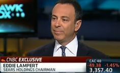 CNBC Exclusive: Eddie Lampert made a rare appearance on Squawk Box this morning along with David Bonderman & Barry Sternlicht to honor legendary investor Richard Rainwater, who is suffering from incurable brain disorder.    Lampert shared his thoughts on the economy, regulation, and the state of retail.    Full interview: http://cnb.cx/I0dDGn