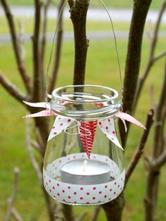 DIY - tealight holder with Washi-Tape Diy Arts And Crafts, Creative Crafts, Diy Crafts, Washi Tape Crafts, Tape Art, Decorative Tape, Painted Mason Jars, Home And Deco, Mason Jar Crafts