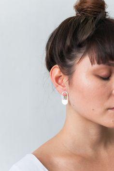 Peek-a-Boo Earrings / I Spy Collection by Alison Jackson Geometric Form, I Spy, Contemporary Jewellery, Peek A Boos, Your Style, Jackson, Earrings, Hair, Beautiful