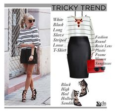 """""""Tricky Trend!"""" by sabinakopic ❤ liked on Polyvore featuring Mode, Rochas und shein"""