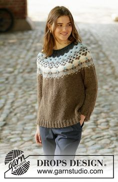 Winter Fjords / DROPS - Kostenlose Strickanleitungen von DROPS DesignLearn how to work this great knitting pattern by watching this video tutor Cardigan Au Crochet, Sweater Knitting Patterns, Knit Crochet, Drops Design, Knitting Gauge, Free Knitting, Icelandic Sweaters, Crochet Girls, Models