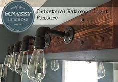 DIY Industrial Bathroom Light Fixture - By SnazzyLittleThings.com