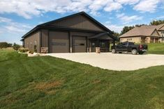 Metal buildings shops interiors and oak barn garage kits - Check Out THE PIC for Various Tips and Ideas. Metal Building Kits, Metal Building Homes, Metal Homes, Building A House, Building Ideas, Pole Barn Garage, Pole Barn Homes, Garage House, Garage Shop