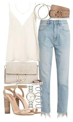 """""""Untitled #21194"""" by florencia95 ❤ liked on Polyvore featuring M.i.h Jeans, Anine Bing, Gucci, Chloé, Cartier, adidas, Burberry and Forever 21"""